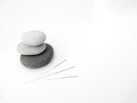 Acupuncture needles concept of zen  Stock Photo - 5733966