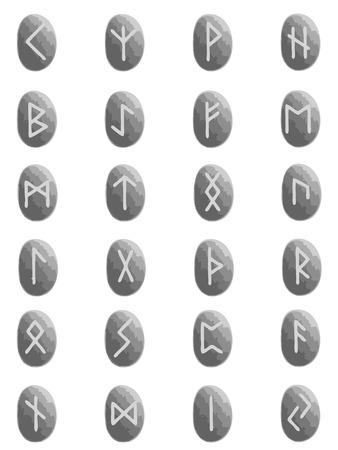 runes: vecteurs de runes sur fond de Pierre inscription