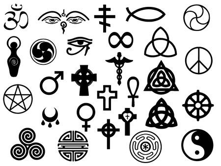 vettori di simboli sacri e guarigione per utilizzano nel disegno e materiale di marketing Vettoriali