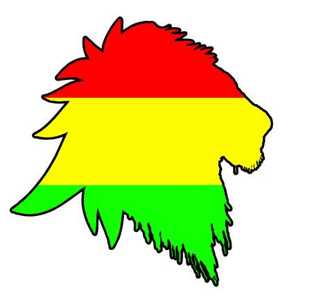 carribean: Vector de reggae de Le�n