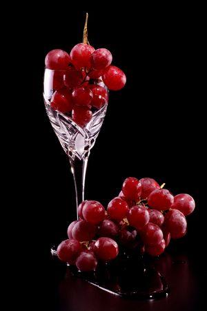 Glass of grape Banco de Imagens