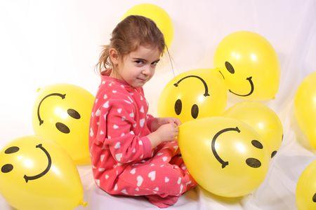 3 year ol girl playing Stock Photo - 2576583