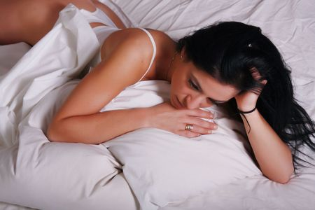 thinking in bed photo