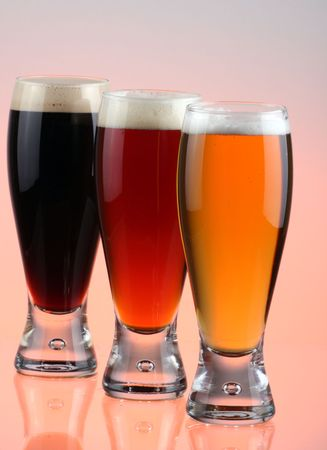 beerglass: BLONG, RED AND BRUNETTE