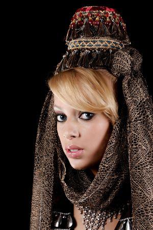 genie woman: beautifu girl wearing a superbe hat