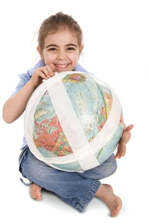 little girl fixing our planet photo