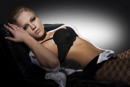 beautiful female model in lingerie photo