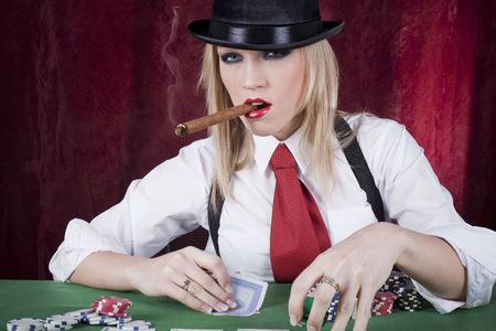 beautiful women at the casino Reklamní fotografie - 5750954