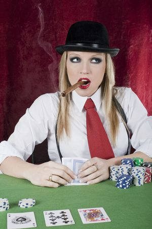 feeling luky playing poker taxas holdem photo