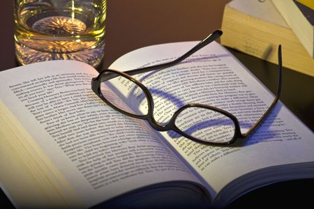 open books and glasses Stock Photo - 6011072