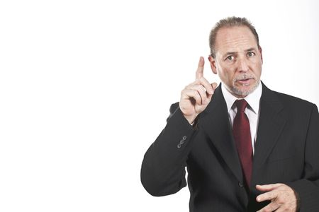 experienced businessmen explaining