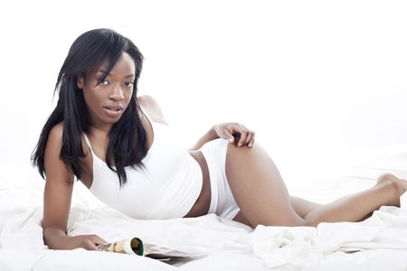 africanamerican: weekend morning in bed