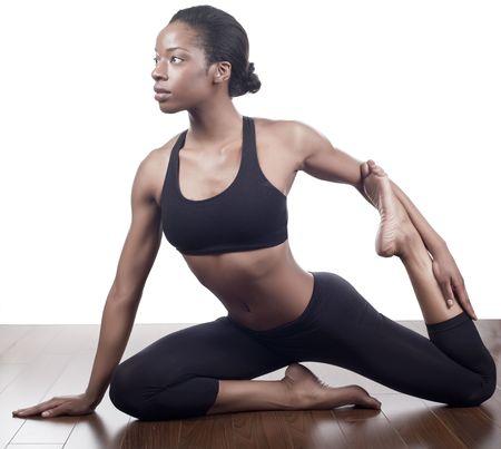 stretching warming up photo