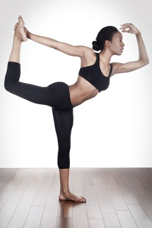 stretching in the danse studio Reklamní fotografie
