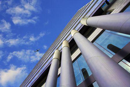 modern building with pillars