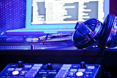 turntable: DJ equipment Stock Photo