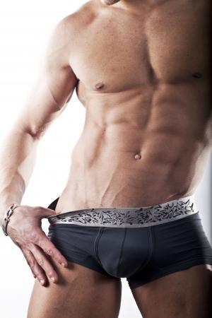 muscular men  physic Stock Photo