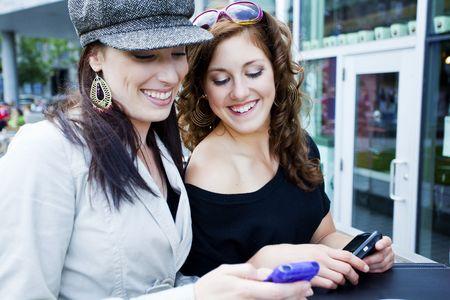 girlfriend texting Stock Photo - 7749213