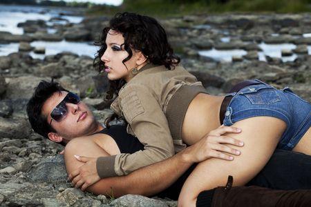 pareja de enamorados  Foto de archivo - 8069973