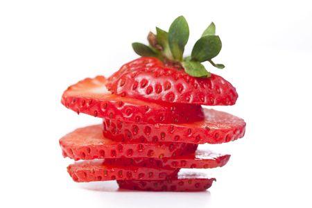 sliced strawberry photo