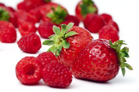 fresh strawberry, raspberry Reklamní fotografie