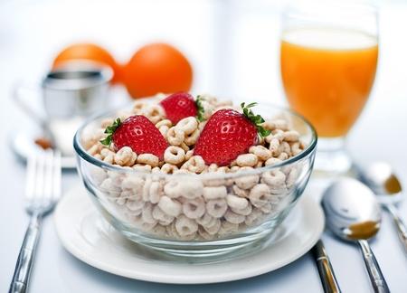 Morning cereal breakfast
