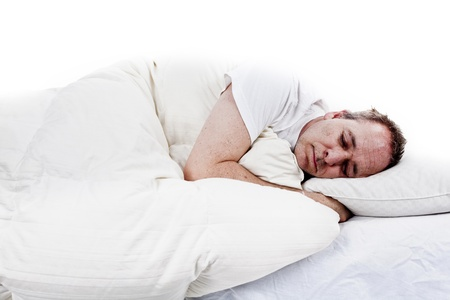 men deep asleep