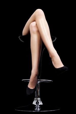 cross leg: piernas cruzadas Foto de archivo