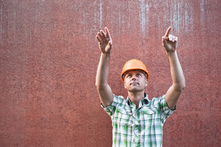 Construction Worker Directing