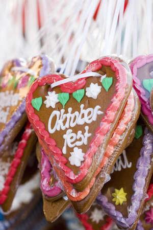 German lebkuchen hearts Oktoberfest