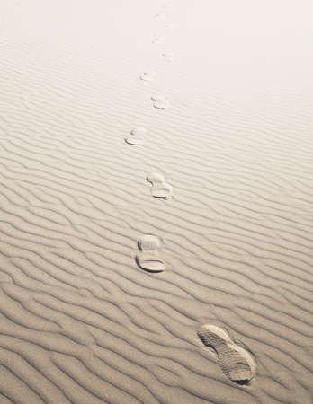 Footprints in sand