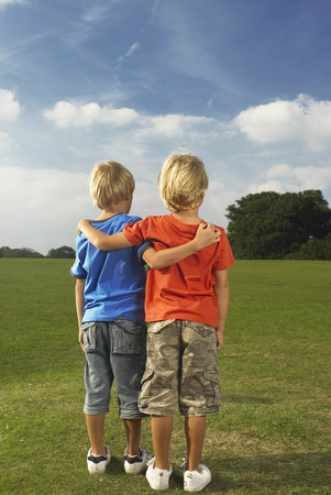 boys with arms around each other