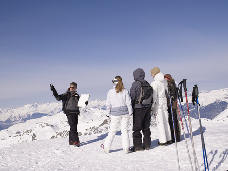 ski instructor teaching class