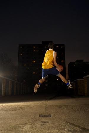 점프 농구 선수 스톡 콘텐츠