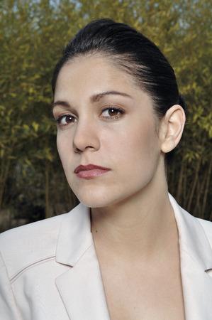 Portrait of a woman on suit