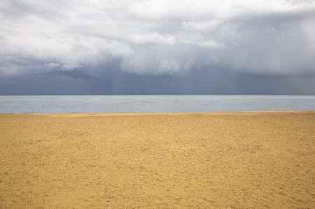 Beach with brooding sky Stock Photo