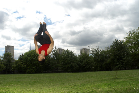 somersault in park