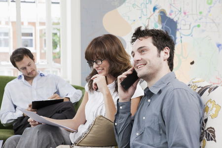 People working at casual office Banque d'images