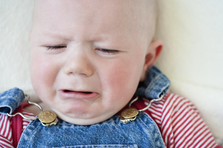 Crying baby-boy Stock Photo