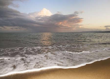 Sunset from a beach