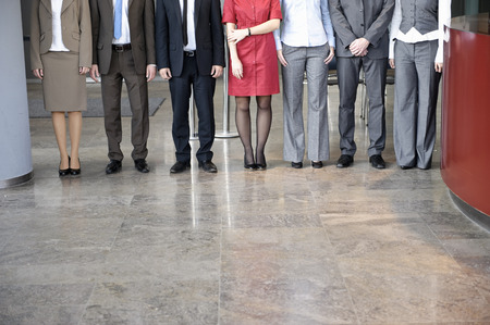 Business people standing in line Banco de Imagens - 86035342