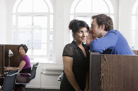 Couple flirting in Business center Stok Fotoğraf