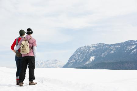 Couple enjoying panorama Stock Photo