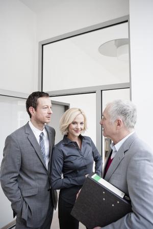 3 business people meeting