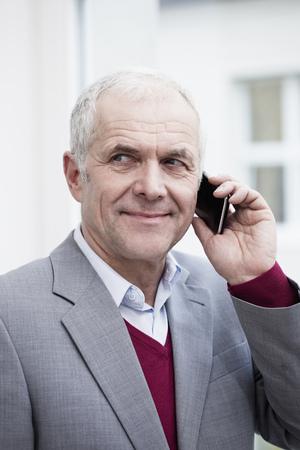 Businessman with handheld