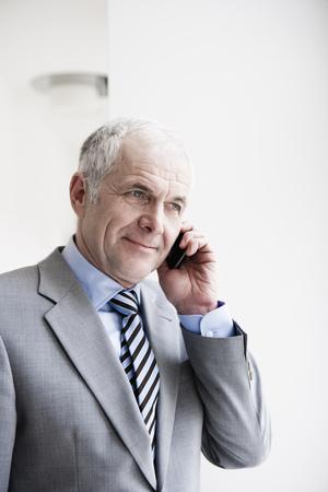 Businessman on cellphone