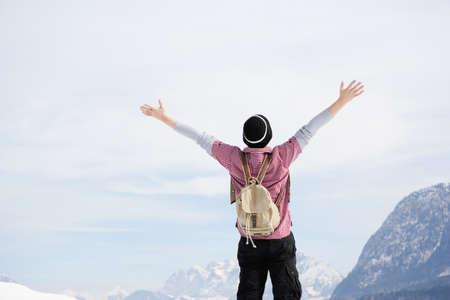 adventuring: Man embracing sky