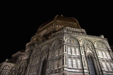 The Duomo at night,Florence,Italy Stock Photo