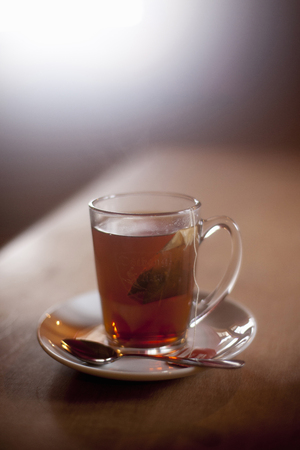 Cup with hot Tea 스톡 콘텐츠