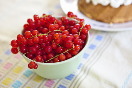 Close up of bowl of berries Stock Photo